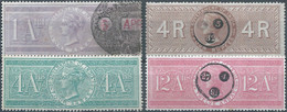 Gran Bretagna-Great Britain-ENGLAND,1866 GOVERNMENT OF INDIA  Revenues Stamps  1- 4 -12 Ana & 4R - Unclassified