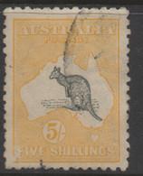AUSTRALIA 1915 5/- GREY AND YELLOW KANGAROO (DIE II) VFU (2nd WMK) PERF.12  SG.30 MUST HAVE - Used Stamps