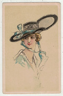 Illustrateurs Signés   // Femme Avec Chapeau - Altre Illustrazioni