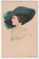 Illustrateurs Signés   // E.Colombo // Femme Avec Chapeau - Colombo, E.