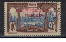 GABON         N°  YVERT  :   100  ( 3 )  OBLITERE       ( Ob   9 / 50 ) - Oblitérés