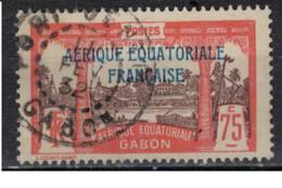 GABON         N°  YVERT  :   104 ( 1 )   OBLITERE       ( Ob   9 / 50 ) - Oblitérés