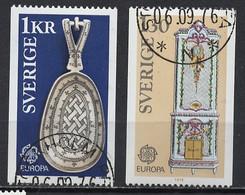 Suède - Schweden - Sweden 1976 Y&T N°923 à 924 - Michel N°943 à 944 (o) - EUROPA - Used Stamps