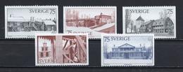 Suède - Schweden - Sweden 1975 Y&T N°887 à 891 - Michel N°908 à 912 *** - Année Du Patrimoine Architectural - Ungebraucht