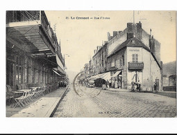 Le Creusot - Rue D'Autun - édit. E.P. 37 + Verso - Le Creusot