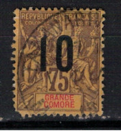 GRANDE COMORE          N°  YVERT  :   29  ( 2° Choix  )  OBLITERE       ( Ob   9 / 51 ) - Usati
