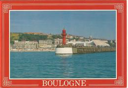 Boulogne Sur Mer-le Phare-la Plage Et Le Centre De La Mer- Nausicaa-cpm - Boulogne Sur Mer
