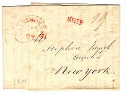 43420 -  BALTIMORE / SHIP Pour NEW YORK - …-1845 Vorphilatelie