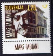 Slovenia 2015. Personalities. 150th Birthday  Maks Fabian.  Architect. MNH - Slowenien