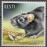 ESTONIA, 2020, MNH, ESTONIAN FAUNA, THE BLACK RAT, 1v - Nager