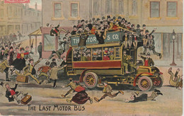 CPA  FANTAISIE   THE LAST MOTOR BUS - Altri