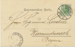 "ÖSTERREICH ORTSSTEMPEL ""BRÜX"" (MOST, Böhmen) K2 Kab.-Postkarte M. 5 H. N. Bayern - Cartas"