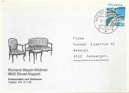 "Motiv Karte  ""Mayer-Widmer, Polstermöbel/Bettwaren, Ebnat Kappel""            1977 - Briefe U. Dokumente"