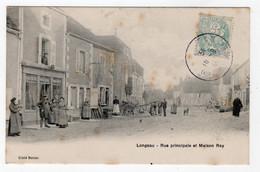 52 HAUTE MARNE - LONGEAU Rue Principale Et Maison Roy - Other Municipalities