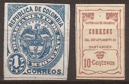 COLOMBIE - SANTANDER - N° 7 Et 23 NEUF X MLH - Colombia