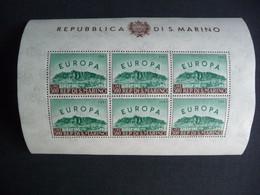 (va) SAN MARINO 1961 SHEET MNH EURO* CEPT * SEE SCAN - Neufs