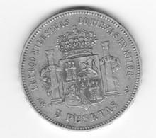 5 Pesetas 1876 DEM TTB - Colecciones
