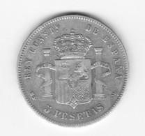 5 Pesetas 1885 (87)  DEM TTB - Colecciones