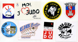 6 Autocollants Judo Club Fédération France - Martial Arts