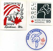 3 Autocollants Judo Club Federation Canada World Championship - Martial Arts