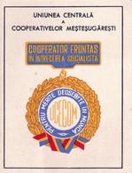 Romania, 1950's, Leader In The Socialist Competition - Brevet / Award Document - Non Classés