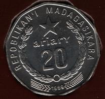MADAGASCAR 20 ARIARY 1999 KM# 24.2 TRACTOR - Madagascar
