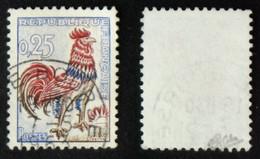 N° 1331d 25c COQ Jaune FLUO Sous UV TB Cote 65€ Signé Calves - 1962-65 Coq De Decaris