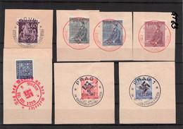 BÖHMEN & MÄHREN - 7 SONDERSTEMPEL/FDC 1939-1943 //Q295 - FDC
