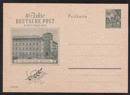 Entier Postal Stationery -  DDR - 10 Jahre Deutsche Post - Hauptpostamt Bautzen - Postales - Nuevos