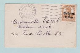 Reich, Wehrmacht, Luttich Belgiën, Kleine Omslag - Postwaardestukken