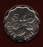 SWAZILAND 5 CENTS 2003 KM# 48 Mswati III - Swaziland