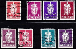 NO611 – NORVEGE - NORWAY - OFFICIAL – 1978→1982 – Y&T # 103→115 USED 11,15 € - Officials
