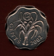 SWAZILAND 10 CENTS 2002 KM# 49 Mswati III - Swaziland