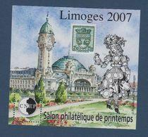 CNEP-2007-N°48** LIMOGES 2007.Salon Philathélique De LIMOGES - CNEP