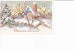 "MIGNONNETTE ""BONNE ANNEE"" DECOR DE NEIGE  ,MAISON REF 69890 - Nieuwjaar"