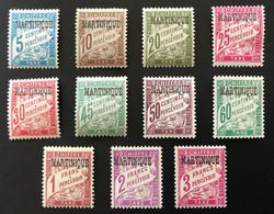 MARTINIQUE 1927 - TAXE NEUF*/MH - Série Complète YT T 1 / 11 - CV 77  EUR - Timbres-taxe
