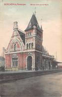Berchem Bij Antwerpen Anvers  Binnenzicht Der Statie Perron Station La Gare Voie   M 7146 - Stations Without Trains
