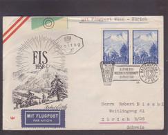 Lettre FIS 1958 FDC Flugpost - Par Avion Wien-Zürich - 1945-60 Covers