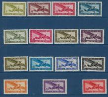 "Indochine Aerien YT 24 à 38 (PA) "" Avion En Vol Sans RF "" 1942-44 Neuf** - Airmail"