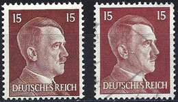 Germany 1941 - Mi 789 - YT 713 ( Adolf Hitler ) MNH** + Used - Two Shades Of Color - Gebruikt