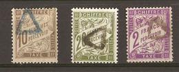 France 1893/1935 - Chiffre Taxe - Petit Lot De 3 Timbres° - Cachet Triangle évidé - 1859-1955 Oblitérés
