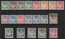 NORTHERN RHODESIA 1938 - 1952 SET (ex 9d) SG 25/45 (ex SG 39) MOUNTED MINT Cat £250 - Nordrhodesien (...-1963)