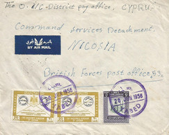 Jordan 1956 Yabed Arab Postal Congress Via Jenin To Cyprus BFPO 53 Nicosia Arab Legion Cover - Jordanie