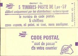 """CARNET 1972-C 1 Sabine De Gandon """"CODE POSTAL"""" Daté 16/11/77 Fermé. Bas Prix RARE Et Peu Proposé - Uso Corrente"""