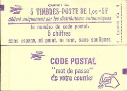 "CARNET 1972-C 1 Sabine De Gandon ""CODE POSTAL"" Daté 16/11/77 Fermé. Bas Prix RARE Et Peu Proposé - Usados Corriente"
