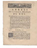 Arrest Du Conseil D'état Du Roy 1716:  ...tous Ceux Qui Jouissent De La Noblesse.... - Decretos & Leyes