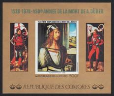 Komoren 1978 - Mi-Nr. Block 132 B ** - MNH - Ungez / Imp - Gemälde / Paintings - Comores (1975-...)