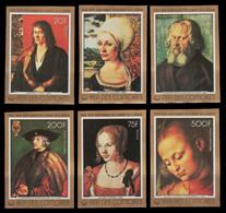 Komoren 1978 - Mi-Nr. 400-405 B ** - MNH - Ungez / Imp - Gemälde / Paintings - Comores (1975-...)