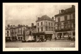 72 - SABLE-SUR-SARTHE - PLACE DE LA MAIRIE - CAFE REZE - Sable Sur Sarthe