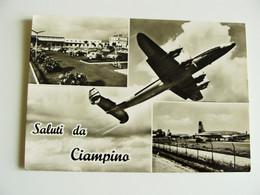 SALUTI DA CIAMPINO  ROMA  FLUGHAFEN   AEROPORTO   AIRPORT AEREO     VIAGGIATA COME DA FOTO PERFETTA - Aerodromi